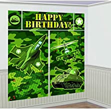 Camouflage Scene Setters Wall Decorating Kit, Birthday