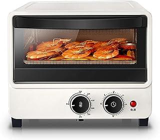 CYN-Mini horno tostador eléctrico, calentamiento de tubo de cuarzo, control de temperatura uniforme, temporizador de 60 minutos con revestimiento de aluminio, tostador de desayuno, 1000 W, blanco
