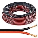 Câble pour haut-parleur Noir et Rouge 2x 0,5mm fil Audio HiFi Auto Bateau 12V 10Amp fil qualité de son 5 METERS