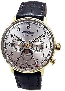 ツェッペリン ZEPPELIN 腕時計 7038-1 ヒンデンブルク クォーツ 40mm レザーベルト [並行輸入品]