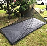Aventik Edison Design C No-See-Um Mosquito Net for Camping Bed Compact and Ultra-Light for Travel Outdoor Netting Cover Lightweight Mesh 2 Colors, Light Gray Color & Coffee Color (Single Brown Color)