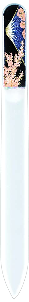 きらめきグレートバリアリーフリボン橋本漆芸 ブラジェク製高級爪ヤスリ 富士に桜 紙箱