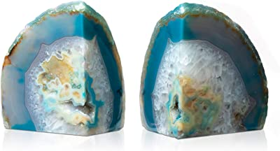 DesertUSA Agate Bookend Teal (2-3.5 lbs)