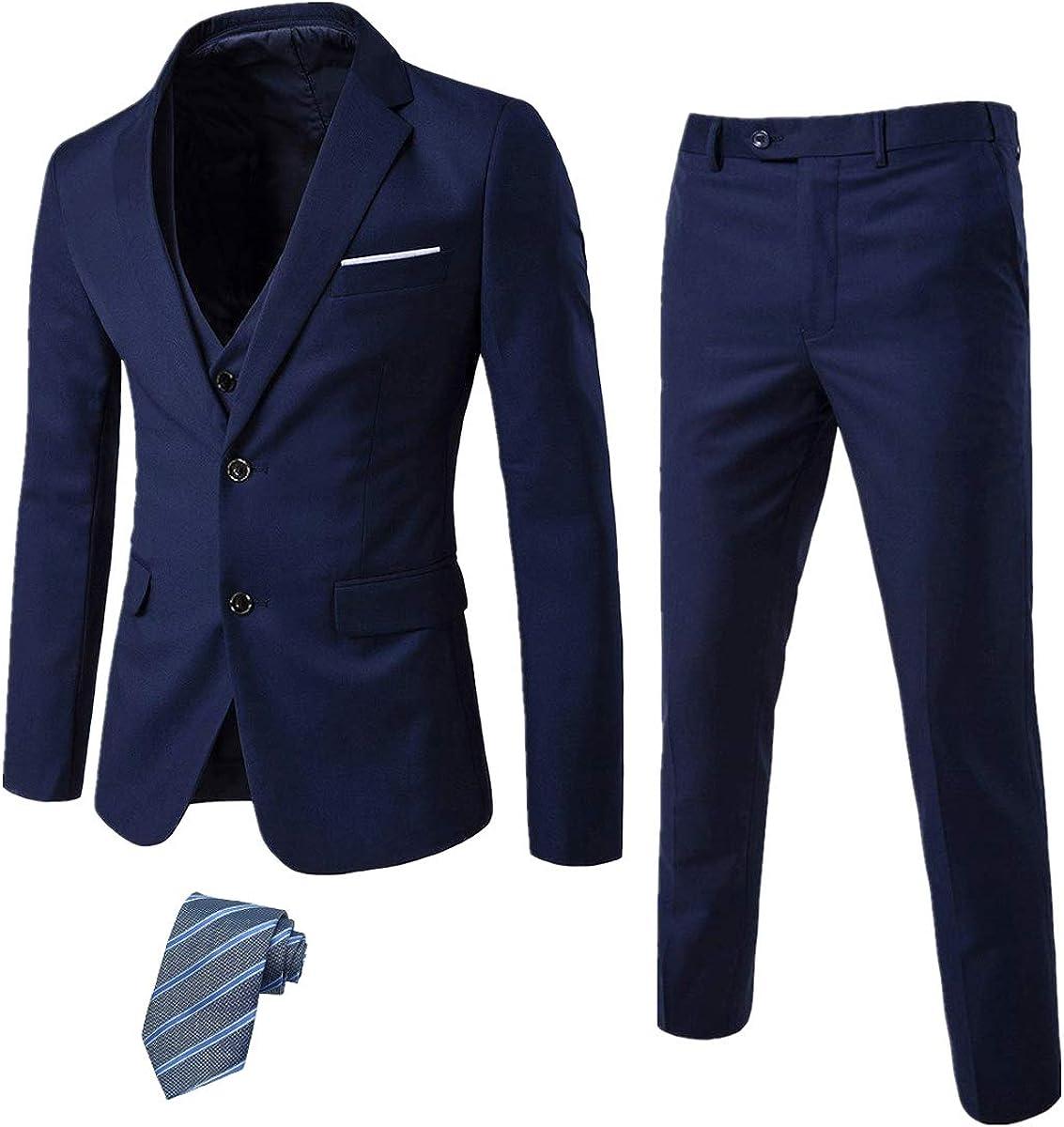 EastSide Men's 3 Pieces Suit Slim Fit Buttons Blazer 2 Tux Ves Weekly update shop