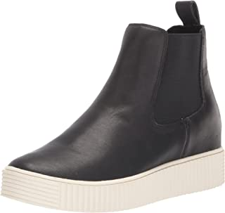 Dolce Vita Women's COLA H20 Ankle Boot, Black Leather H2O, 8.5