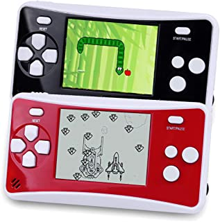 Handheld Games Console for Kids, Portable Retro Video Game Can Play on TV(Black and Red)