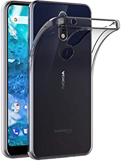 Case for Nokia 7.1 (5.84 inch) MaiJin Soft TPU Rubber Gel Bumper Transparent Back Cover