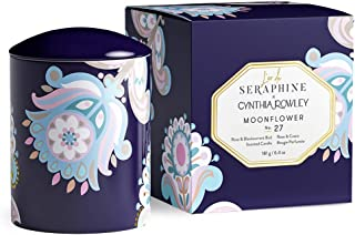 L'or de Seraphine x Cynthia Rowley Moonflower Candle, 6.4 oz | Bulgarian Rose, Blackcurrant | 45 Hour Burn, Long Lasting, ...