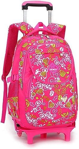 CcBeatY Rolling Backpack On Wheels Hochleistungs-Schultasche Rucks e für Studenten, die Treppen steigen