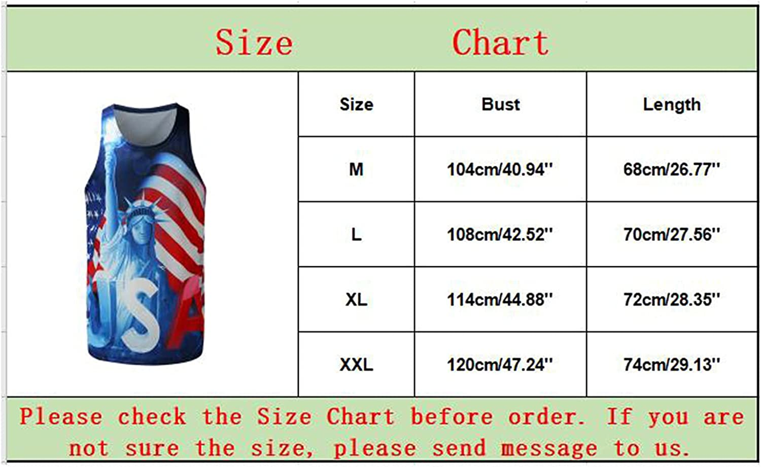 FUNEY Mens Tank Tops Beach Sleeveless Dri Fit Workout Shirts 4th of July Muscle Tees Training Bodybuilding Fitness T Shirts
