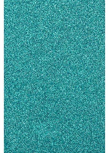 Glitter/Glitzer A4 Transferfolie/Textilfolie zum Aufbügeln auf Textilien - perfekt zum Plottern geeignet - einzelne Folien, Glitter 2:Emerald
