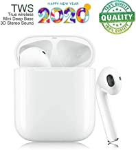 Bluetooth 4.2 Wireless Headphones, Headphones with Microphone, Automatic Pairing, Waterproof Stereo HIFI Stereo Headphones for iPhone/Samsung/Apple/Airpod
