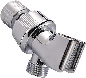 Shower Arm Holder for Handheld Shower Head, Adjustable Mount Bracket, Shower arm Adapter with Swivel Ball, Universal Mount,Chrome,Color1