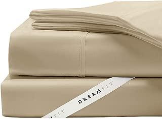 DreamFit 4-Degree 400 Thread Count Preferred 100-Percent Egyptian Cotton Sheet Set, Split California King, Truffle