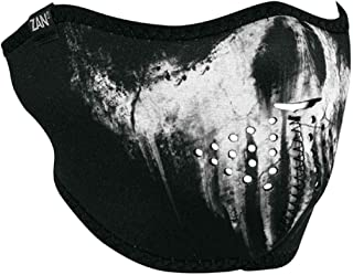 ZanHeadgear Neoprene Half Face Mask Skull Ghost
