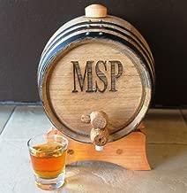 Personalized 2 Liter Oak Beverage Dispensing Barrel