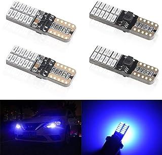 KaiDengZhe 4pcs Blue T10 W5W 168 194 501 Super Bright Wedge LED Car Bulbs Lamp 4014 SMD 24 LED CanBus Error Free 5W 12V LE...