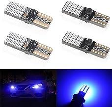 4 unids T10 W5W 168 194 501 LED Bulbs 24 leds 4014SMD Super Bright Azul Canbus no error Bombillas de cuña Luces de posición Placa de la lámpara del coche Juego Interior del coche 5W 12V 6000k