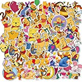 Cartoon Electric Cars Winnie The Pooh Motorcycle Stickers Luggage Laptop Mobile Phone Waterproof Stickers 50Pcs
