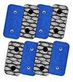TENSPAD SILVER 8 electrodos con patrón de Plata para Compex, 50x100mm con 2 Snaps