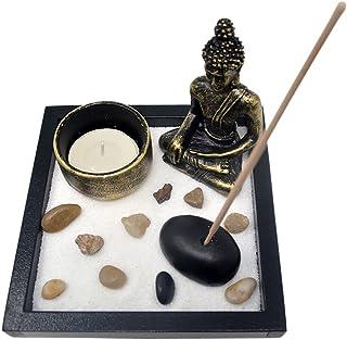 SKU:T1020 - Jardín zen, con arena, figura de Buda, rocas,