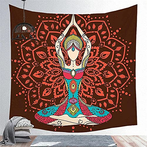 KBIASD Tapiz de decoración de Pared de Tela con patrón Rojo para Dormitorio Sala de Estar Dormitorio Cortina 150X200CM