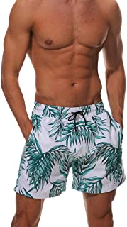 Quick Dry Bermudas Print Beach Shorts Tropic Hawaii Swimwear Boardshorts with Mesh Lining