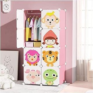 Armoire portable en résine empilable pour bricolage Armoire portable pour enfants de bébé de la chambre Animaux de l'histo...