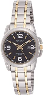 Casio Women's Black Dial Stainless Steel Analog Watch - LTP-1314SG-1AVDF