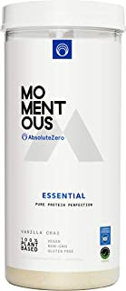 Momentous Essential Plant-Based Pea and Rice Protein Powder, 20 Servings Per Jar for Essential Everyday Use, Vegan, Gluten...
