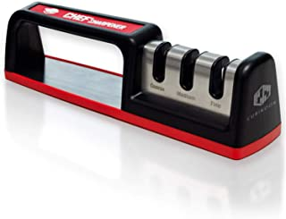 Kitchen Knife Sharpener - Diamond Rod Complete 3-stage Knife Sharpener CS-T01, Sturdy Design, Non-slip Base Pat, Easy and Safe to Use, Fast and Effective Manual Sharpening Tool