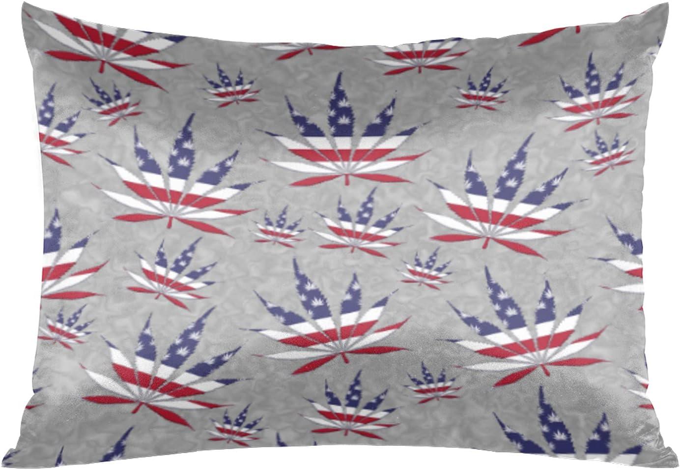 Satin Pillowcase for Hair and Skin Silk Pillow Ca High Cheap SALE Start material Marijuana Leaf