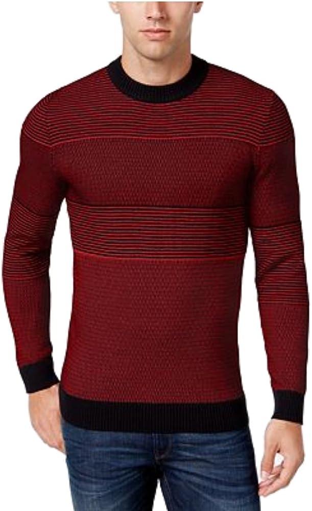 Alfani Mens Multi-Stitch Knit Pullover Sweater