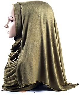 Hat for Women, Shimmer Sparkle Gold Glitters Plain Chiffon Muslim Hijab Scarf Shawl Head Wrap