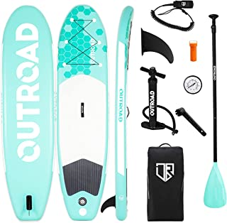 """Outroad Inflatable Stand Up Paddle Board 10'6"""" x 32"""" x 6"""" Ultra-Light Stand-Up Paddleboards with Premium SUP Accessories a..."""