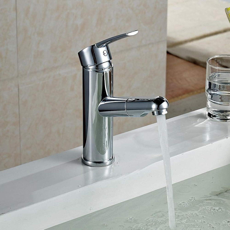 Messingchrom Heies Und Kaltes Wasser,Waschbecken Wasserhahn Bad Pull Waschbecken Wasserhahn Bad Waschen