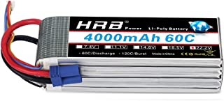 HRB 6S 22.2V 4000mAh 60C Lipo Battery with EC5 Plug Compatible for RC Quadcopter Helicopter Car Truck Boat Hobby