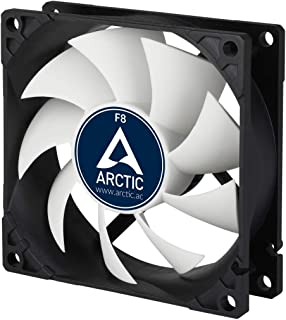 Arctic Silent, 80 mm 3-Pin Fan with Standard Case and Higher Airflow, Quiet and Efficient Ventilation