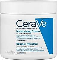 CeraVe Crema Hidratante |454gr| Hidrante diario para rostro y cuerpo para piel seca