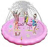 FLZXSQC Almohadilla de rociador para piscina y salpicaduras para niños, almohadilla antideslizante de pulverización de agua de 67 pulgadas,juguetes inflables de agua, color rosa