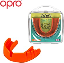 OPRO Snap-Fit Mouthguard   Gum Shield for Hockey, Rugby, and Other Contact Sports - No Boiling or Fitting Required -18 Month Dental Warranty (Adult and Youth Sizes)