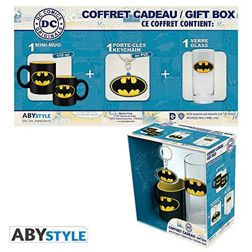 Batman 599386031 - Set regalo dc (taza + llavero + vaso)