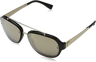 Versace Mens Sunglasses Black/Gold Plastic,Nylon - Non-Polarized - 57mm