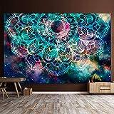 Mandala tapiz tapiz de pared manta misteriosa nebulosa estrellas tapiz de pared decoración de pared ropa de cama colcha 150x130 cm