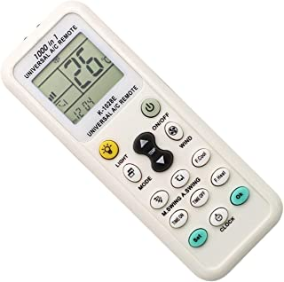 Universal Air Conditioner Remote Control for Daikin, Hitachi, Carrier, LG, Sharp, Haier, Gree, Midea, Whirlpool, Bosch, Ol...