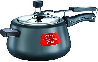 Prestige Nakshatra Cute Hard Anodized Aluminum Pressure Cooker, 5 litres, Charcoal Black