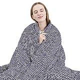 ARNTY Coperta Ponderata Adulti/Bambini,Gravity Coperte Ponderate Singole,Weighted Blanket, per Alleviare lo Stress e Aiutare il Sonno (Blu&Strisce,122*183cm,7kg,per Adulti)
