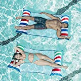 Inflatable Pool Floats Adult Size, 2PCS Swimming Pool Floaties Water Toys, Multi-Purpose Pool Floats Accessories Water Hammock Lounges for Adults, Ideal for Seaside, Lake, Swimming Pool (Mixed-Color)