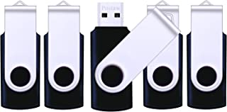 USB Flash Drive 5 Pack, Pnstaw USB 2.0 Memory Sticks Thumb Drives Pen Drives Jump Drive with 5 Lanyards for Data Storage, ...