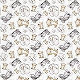 Tela de algodón 100% para niños, diseño de cebra, elefante, tigre, bebé, por metros, artesanía, tela de costura, 300 x 160 cm